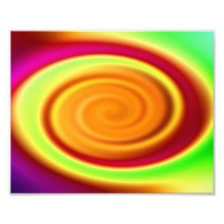 Abstract Rainbow Swirl Pattern Photograph