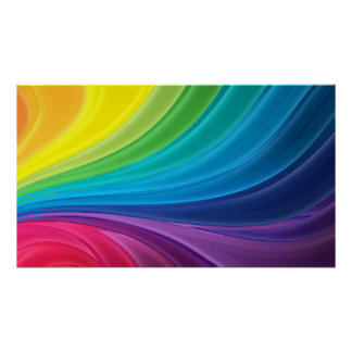 Abstract Rainbow Swirl Poster