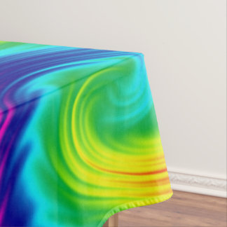 abstract rainbow texture tablecloth