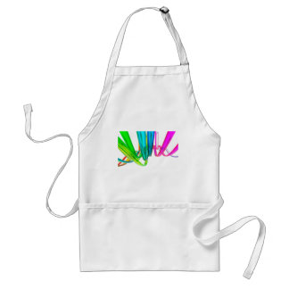 Abstract rainbow waves on the move aprons