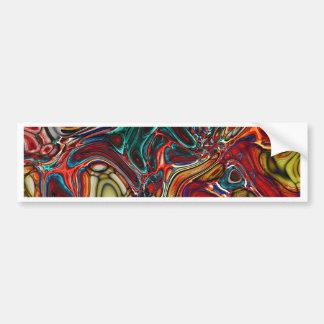 Abstract Random Color Pool Bumper Sticker