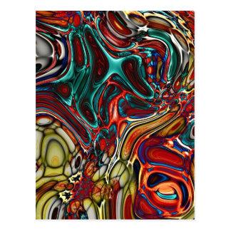 Abstract Random Color Pool Postcard