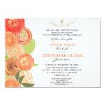 Abstract Ranunculus Fall Flowers Wedding Invite