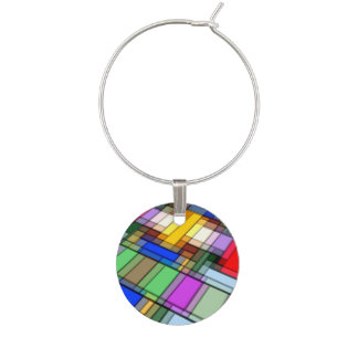 Abstract Rectangles.jpg Wine Charms