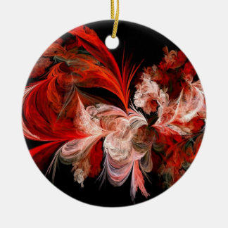 Abstract Red and Black Christmas Tree Ornament