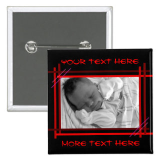 Abstract red and black Frame Button