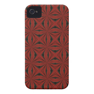 abstract red and black pattern iPhone 4 covers