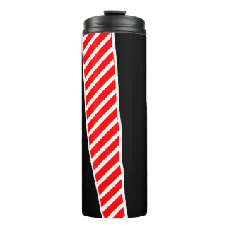 Abstract red and black thermal tumbler