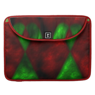 """Abstract Red and Green  Macbook Pro 13"""" laptop slv Sleeve For MacBook Pro"""