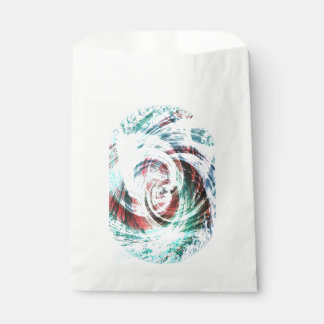 Abstract Red and Green Patterned Favour Bag