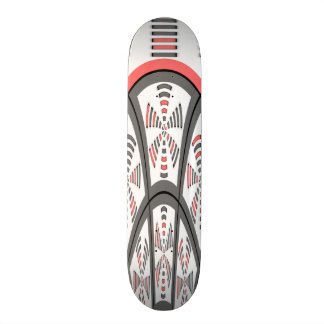 Abstract red and grey skateboard