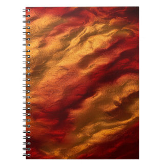 Abstract Red And Orange Texture Notebooks