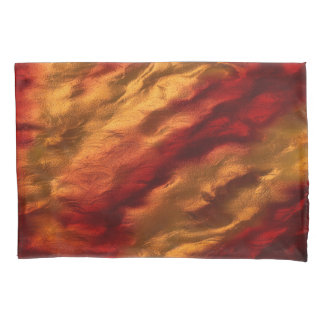 Abstract Red And Orange Texture Pillowcase