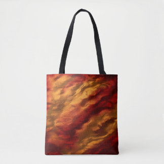Abstract Red And Orange Texture Tote Bag