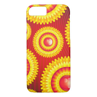 Abstract red and yellow Flower Case