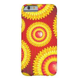 Abstract red and yellow Flower Case Barely There iPhone 6 Case