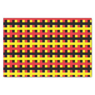 Abstract Red, Black and Yellow Tissue Paper