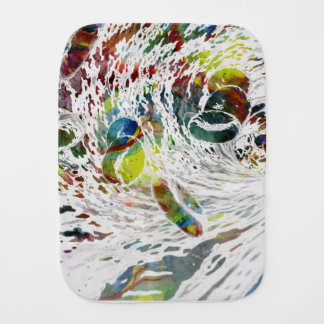 Abstract Red Blood Cells Medical Gifts Burp Cloth
