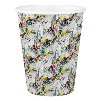 Abstract Red Blood Cells Medical Gifts Paper Cup