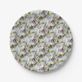 Abstract Red Blood Cells Medical Gifts Paper Plate