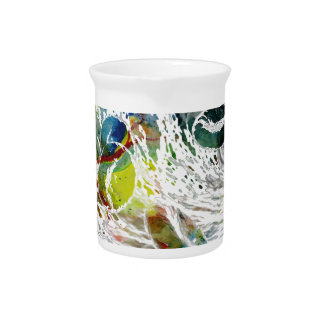 Abstract Red Blood Cells Medical Gifts Pitcher