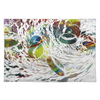 Abstract Red Blood Cells Medical Gifts Placemat