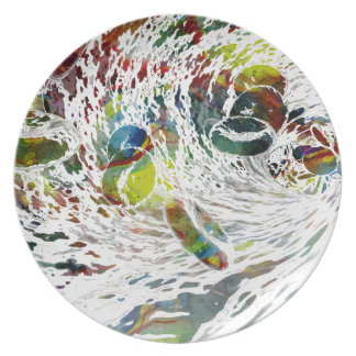 Abstract Red Blood Cells Medical Gifts Plate