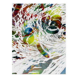 Abstract Red Blood Cells Medical Gifts Postcard