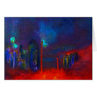"""""""Abstract Red City"""" Art Card"""