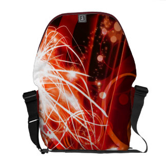 Abstract Red Commuter Bag