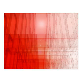 Abstract Red Construct: Postcard
