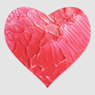 Abstract red design heart sticker
