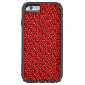 Abstract Red Fine Random Pattern Tough Xtreme iPhone 6 Case