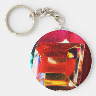 Abstract red gem keychain