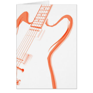 Abstract Red Guitar Background Card