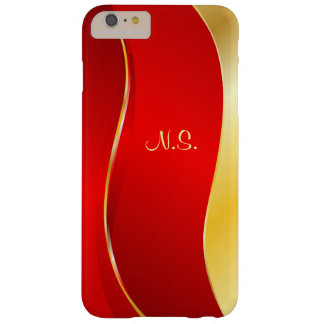Abstract Red line Monogram Barely There iPhone 6 Plus Case