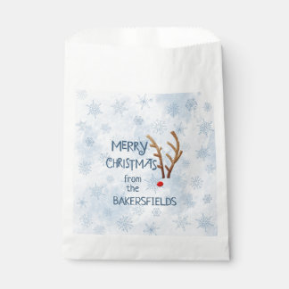 Abstract Red-Nosed Reindeer, Merry Christmas from Favour Bag