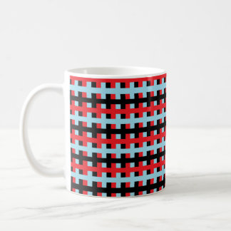 Abstract Red, Pastel Blue and Black Coffee Mug