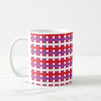 Abstract Red, Purple and White Coffee Mug