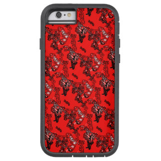 Abstract Red Random Pattern Tough Xtreme iPhone 6 Case