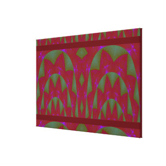 Abstract Red Rose Green Leaf Spectrum Panorama Gallery Wrap Canvas