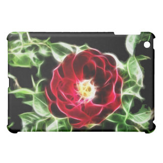 Abstract red rose iPad mini cover
