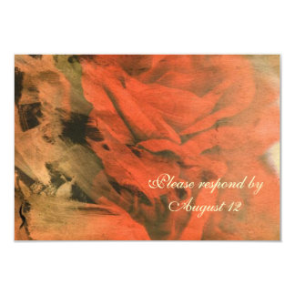 Abstract Red Rose RSVP with envelopes Card
