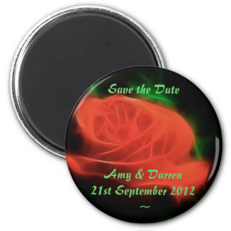 Abstract Red Rose,save the Date Magnet