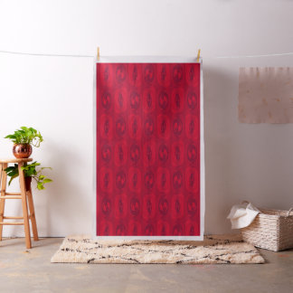 Abstract Red Roses Geometric Pattern Fabric