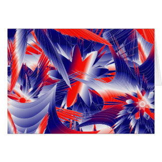 Abstract Red White and Blue Card