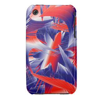 Abstract Red White and Blue iPhone 3 Case-Mate Case