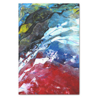 Abstract Red White and Blue Tissue Paper