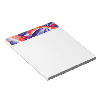 Abstract Red White and Blues Notepad