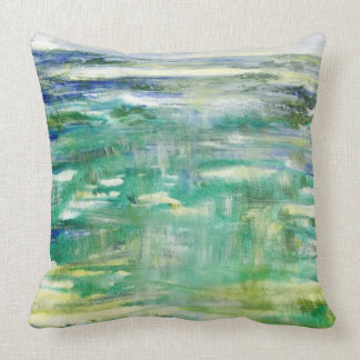 Abstract Reflection outdoor pillow